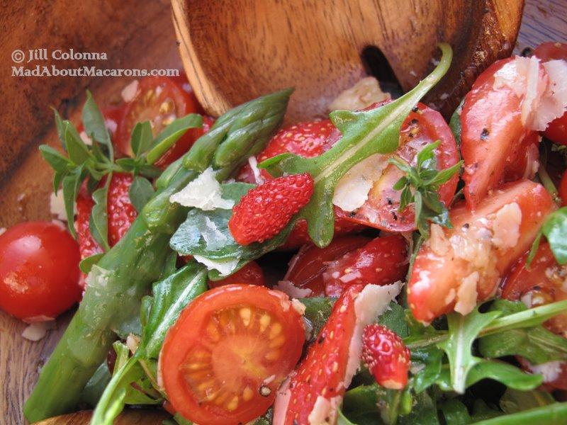 cherry tomato strawberry rocket salad