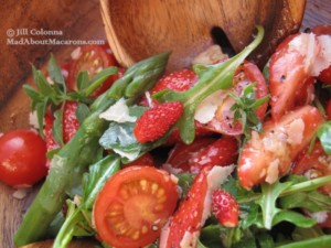 wild strawberry cherry tomato roquette salad