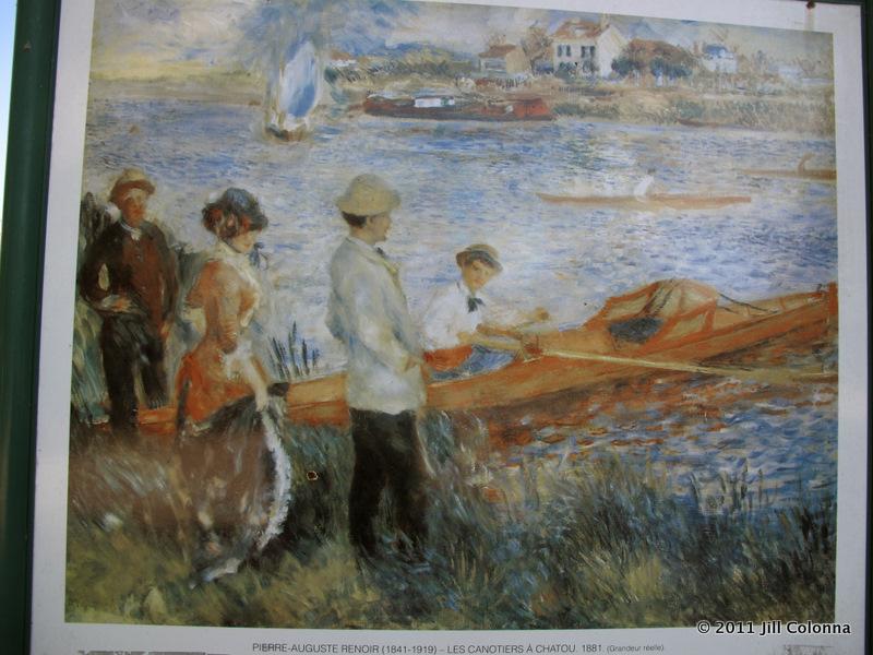 Renoir paintings on the Seine