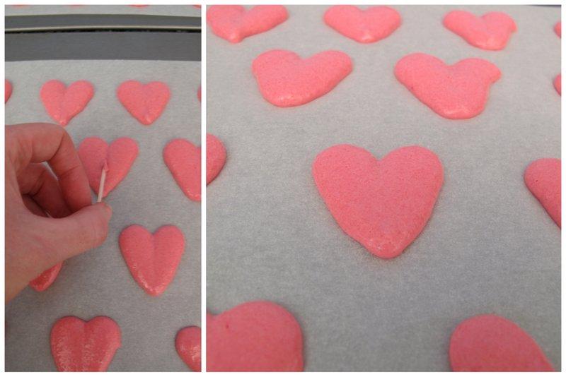 how to make macaron hearts