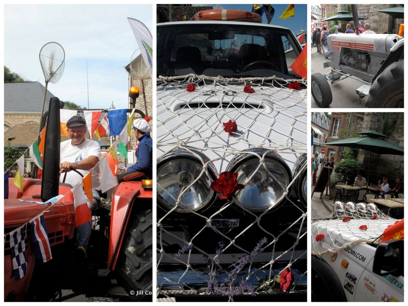 Normandy tractors decorated for the festival