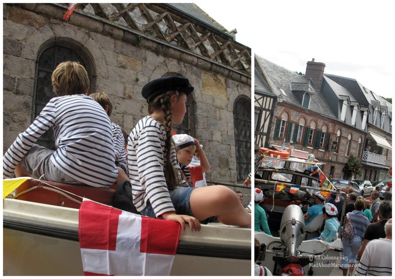veules-les-roses sea carnival boats in the Normandy village