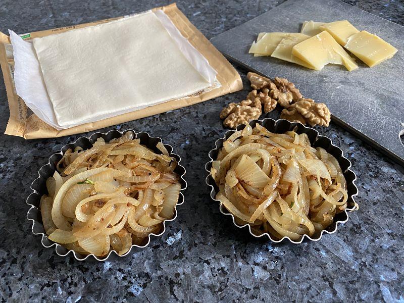 French Onion Tatin Tartlets