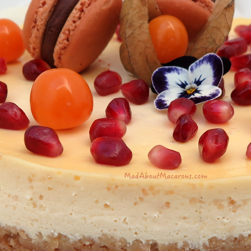 orange cinnamon cheesecake decor close-up