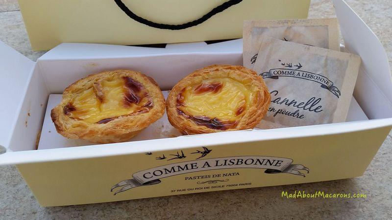 Pasteis de nata Comme à Lisbonne in Paris