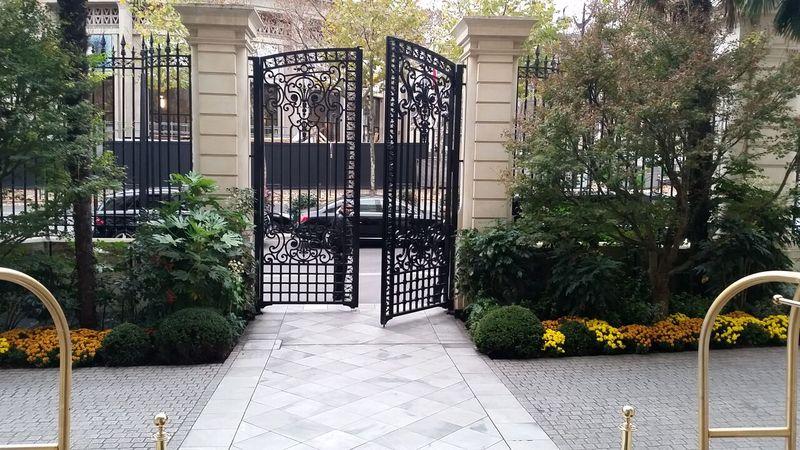 Cast iron original gates to Prince Roland Bonaparte's Palace, Shangri-La Hotel Paris