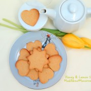 Honey lemon sable cookies
