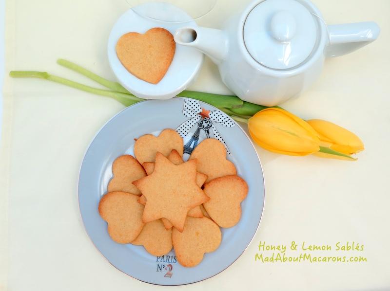 Honey and lemon sable cookies