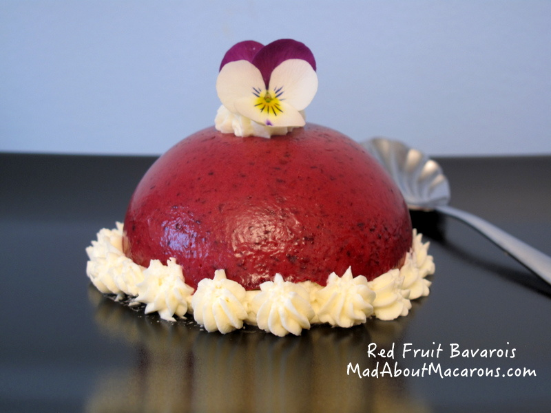 red fruit bavarois dessert