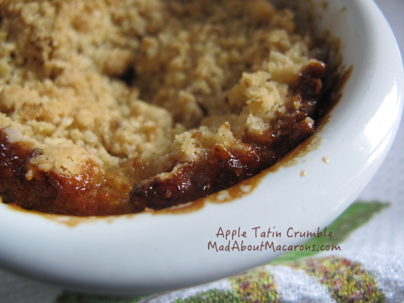 Apple oat tatin crumble