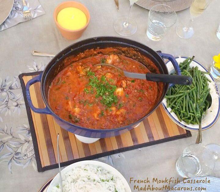 French monkfish casserole