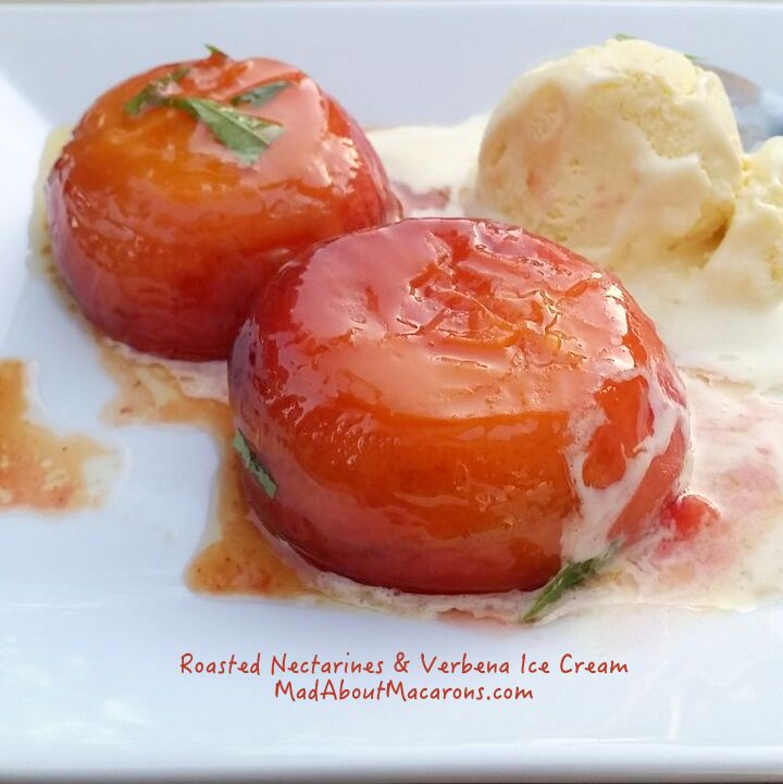 verbena ice cream roasted nectarines