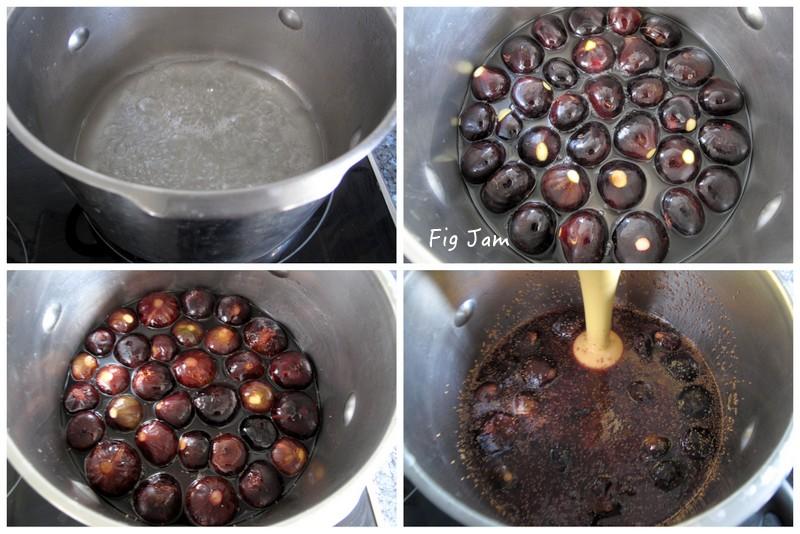 Method for making fig jam