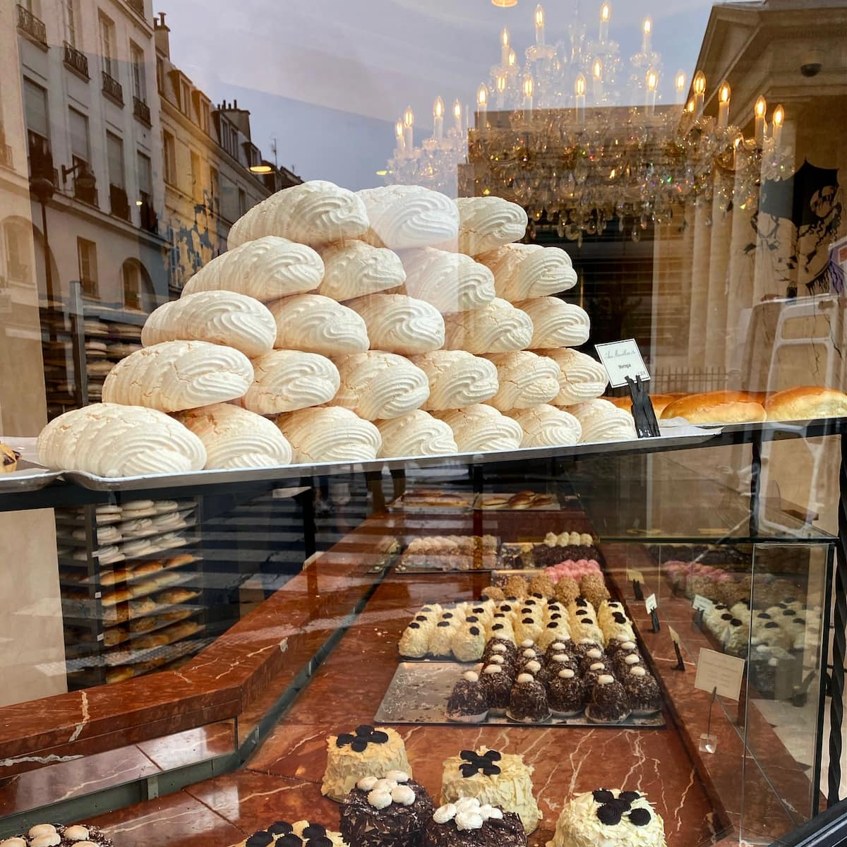 patisserie window meringues