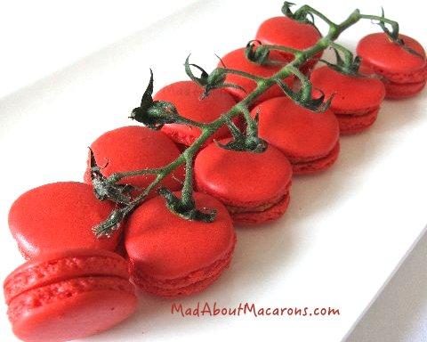 cherry tomatoes - Bloody Mary macarons