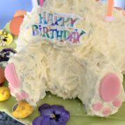 Chocolate Easter Bunny Birthday Cake