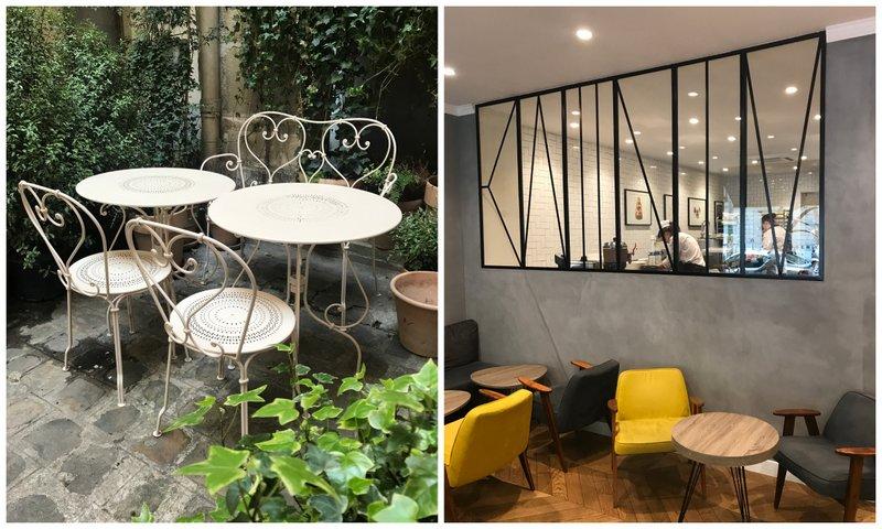 Air-conditioned Paris tea salons