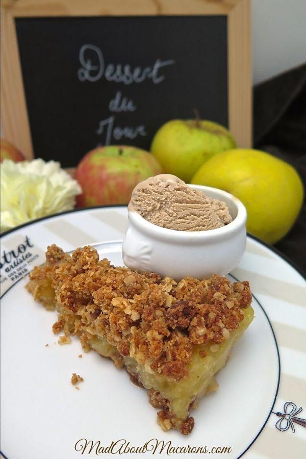 French Apple Crumble Cake Ice Cream