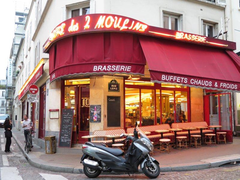 Montmartre chocolate pastry walk Amelie brasserie