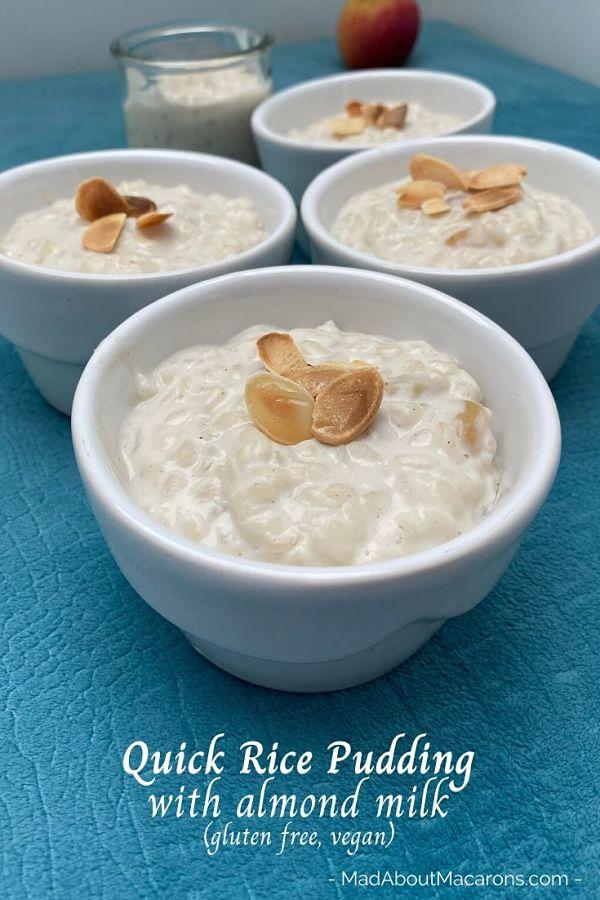 Quick Almond Milk Rice Pudding