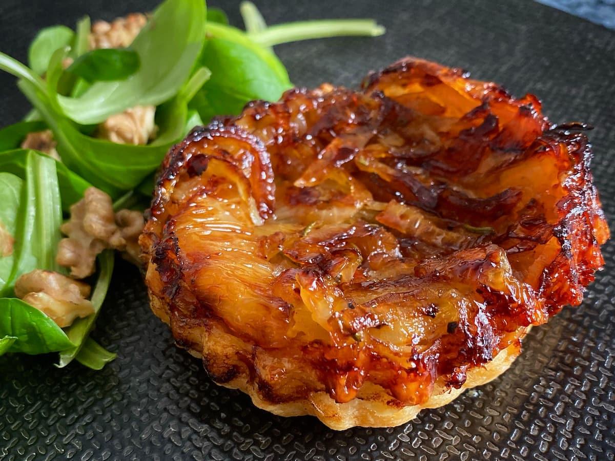 individual onion tarte tatin
