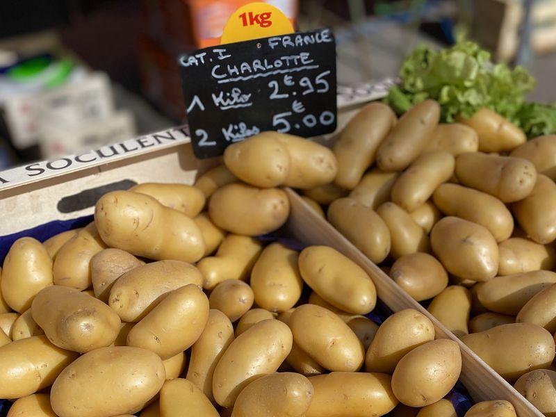 French Charlotte potatoes