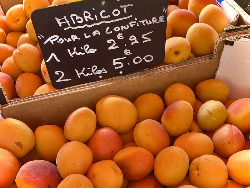 French market apricots