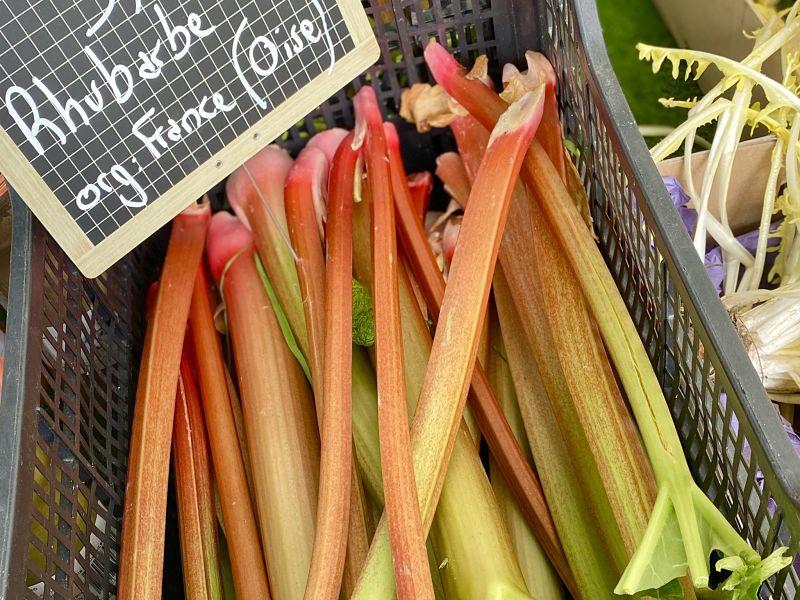 French market rhubarb