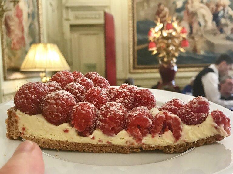 raspberry tart slice teatime Jacquemart Andre museum paris